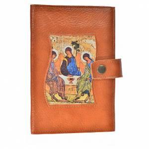 Fundas Liturgia de las Horas 4 volúmenes: Funda lit. de las horas 4 vol. símil cuero Trinidad marrón