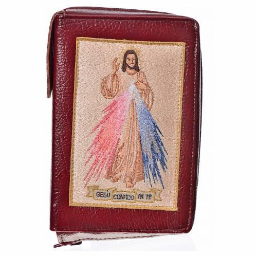 Funda Sagrada Biblia CEE ED. Pop. burdeos simil cuero Divina Mis s1