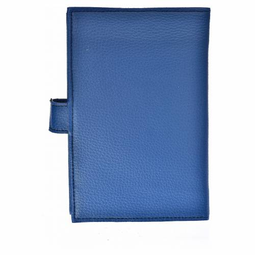 Funda Sagrada Biblia CEE ED. Pop. Virgen simil cuero azul s2