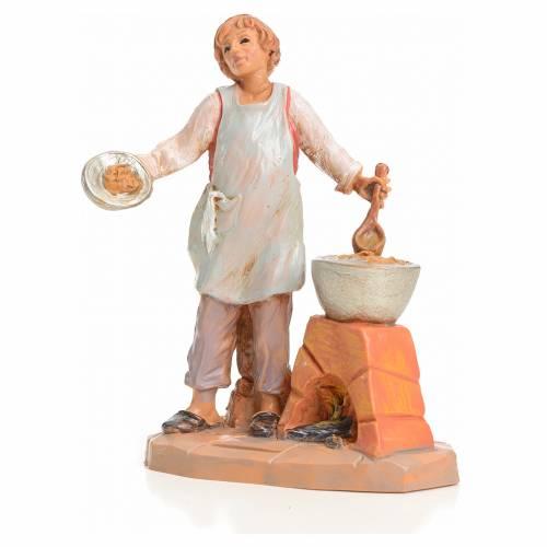 Garçon à la soupe crèche 9,5 cm Fontanini s1
