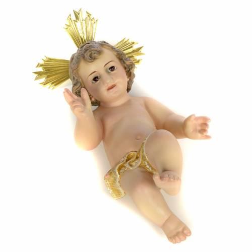 Gesù Bambino 20 cm in pasta di legno dec. extra s3