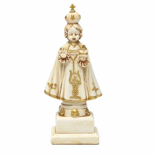 STOCK Gesù Bambino di Praga 15 cm gesso avorio s1