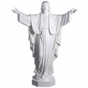 Statue in Vetroresina: Gesù Redentore 200 cm vetroresina bianca