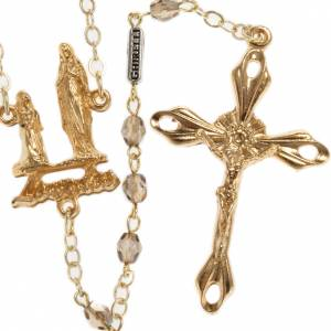 Ghirelli outlet rosary beads: Ghirelli crystal rosary Our Lady of Lourdes 5 mm