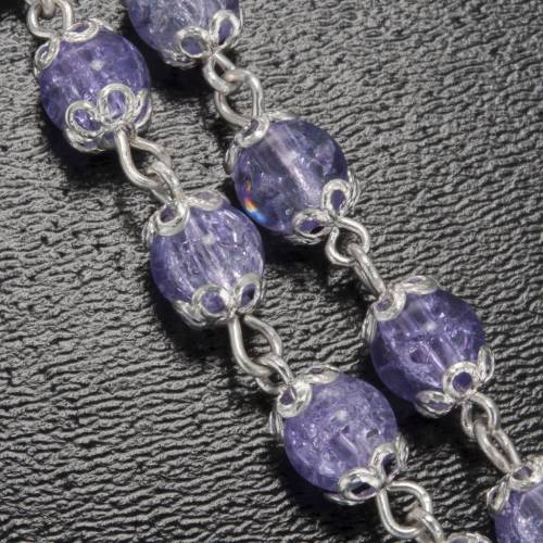 Ghirelli lilac rosary Grotto of Lourdes 6 mm s5