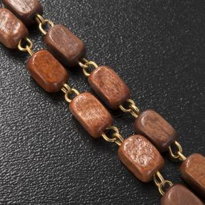 Ghirelli rosary in golden wood 8x5mm s3