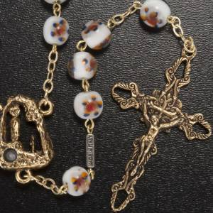 Ghirelli outlet rosary beads: Ghirelli rosary Lourdes Grotto, colored glass 8mm
