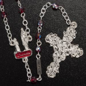 Ghirelli rosary Lourdes with ruby beads s2