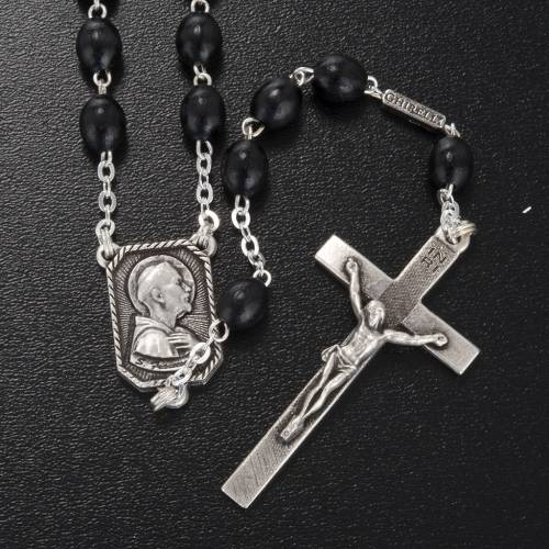 Ghirelli rosary St. Clare and St. Francis wood 8x6 mm s2