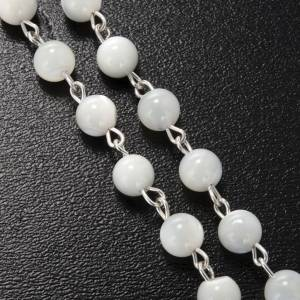 Ghirelli rosary with Divine Mercy in mother pearl 6 mm s4