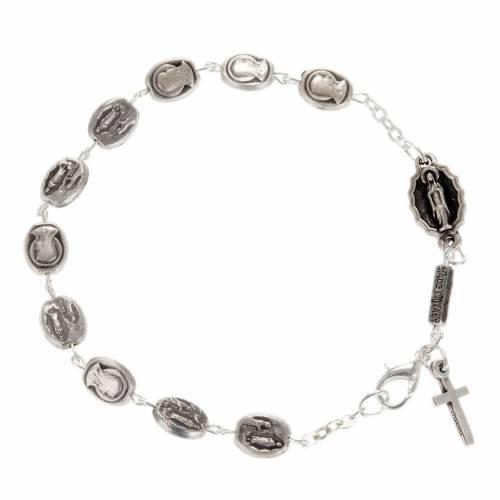 Ghirelli single-decade bracelet, Our Lady of Lourdes 6x8mm s1