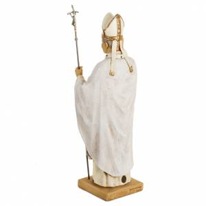 Giovanni Paolo II veste bianca 50 cm resina Fontanini s5
