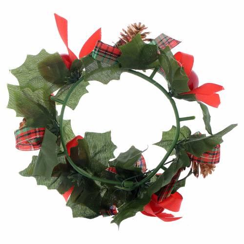 Girocandela di Natale (per candele classiche) pigne fiocchi s2