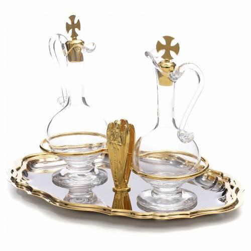 Glass cruet set, angel with joint hands s3