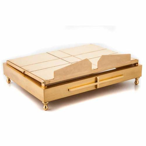 Gold-plated brass book stand s5