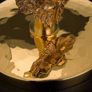 Golden chapel monstrance with angel, 8.5 cm diameter s4