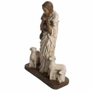 Good Shepherd in stone, Bethléem 38cm s3