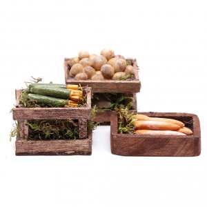 Miniature food: Greens boxes set of 3 pieces