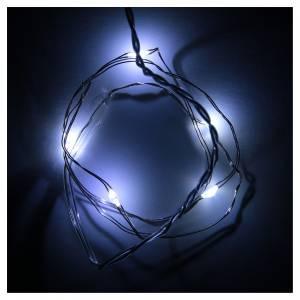 Guirlande de Noël 5 lumières leds en goutte blanc froid piles s2