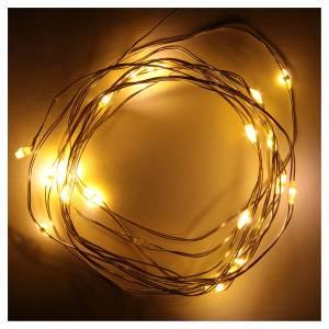 Guirlande de Noël fil nu 20 leds blanc chaud intérieur s2