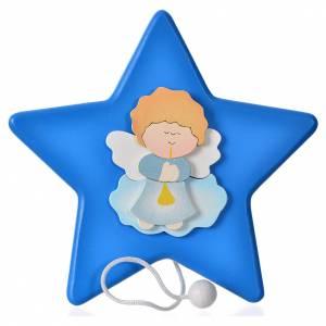 Płaskorzeźby różne: Gwiazda Anioł i pozytywka 16x16 cm