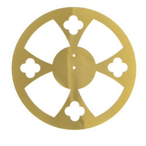 Halo in golden brass with crosses s3