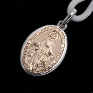 Anhänger, Kreuze, Broschen: Halskette mit wundertätiger Medaille Silber 925