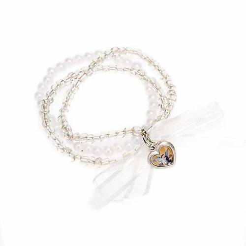Heart and angels bracelet for babies s5