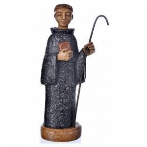 Statuen aus Stein: Heiliger Benediktus 24cm aus Stein, Bethleem