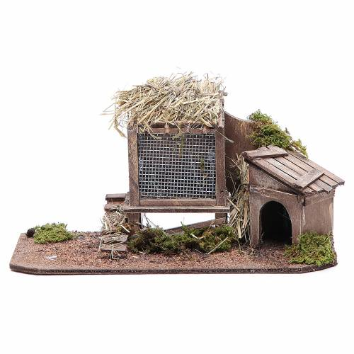 Hen house and doghouse for Neapolitan Nativity, 12cm s1