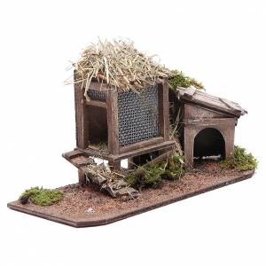 Hen house and doghouse for Neapolitan Nativity, 12cm s3