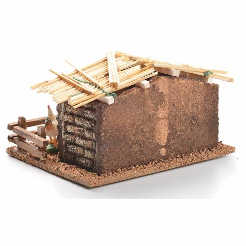 Hen house for nativities measuring 6cm s3