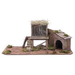 Hen house for Neapolitan Nativity measuring 24cm s1