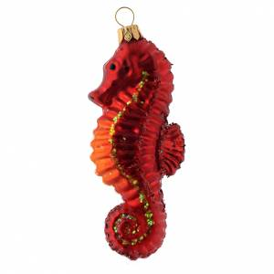 Adornos de vidrio soplado para Árbol de Navidad: Hipocampo adorno para árbol de Navidad vidrio soplado