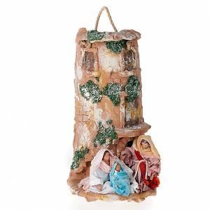 Krippe aus Terrakotta: Hohlziegel aus Terrakotta mit Geburtsszene