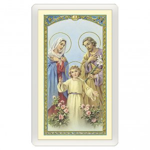 Holy cards: Holy card, Holy Family, Family Decalogue ITA 10x5 cm