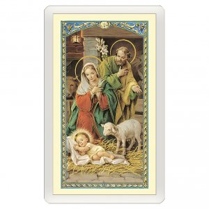 Holy cards: Holy card, Nativity, Poem to Baby Jesus ITA 10x5 cm