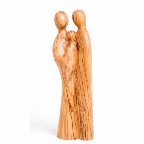 Holy Family in olive wood s1