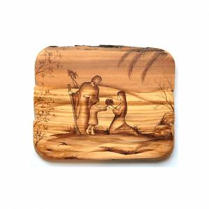 Holy Family on olive wood s1