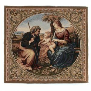 Tapestries: Holy Family with a Palm Tree by Raphael tapestry 65x65cm