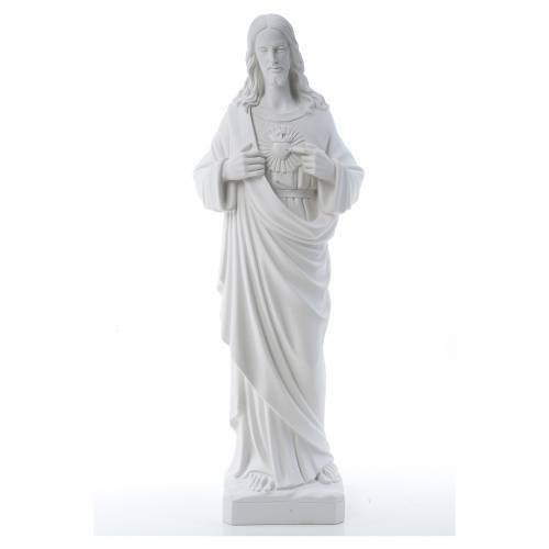 Holy Heart of Jesus -  Reconstituted Carrara Marble Statue 80-100 cm s1