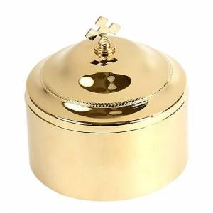 Pyxes and Burses: Hosts box golden brass