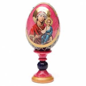 Huevos rusos pintados: Huevo icono découpage Rusa Smolenskaya h tot 13 estilo Fabergé