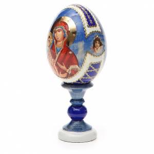 Huevos rusos pintados: Huevo ruso de madera découpage Tres Manos altura total 13 cm estilo Fabergé