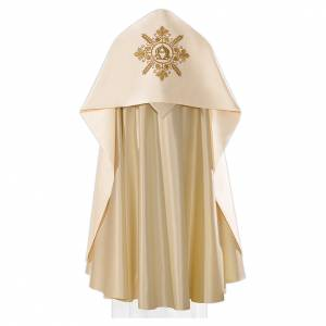 Copes, Roman Chasubles and Dalmatics: Humeral veil with gold embroidery Alpha Omega