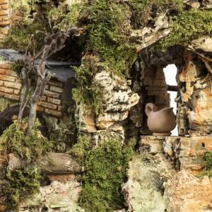 Krippe Hütten und Grotten: Hütte für Krippe Stadtsszene Lichter und Feuer
