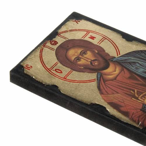 Icon print on wood, Pantocrator s2
