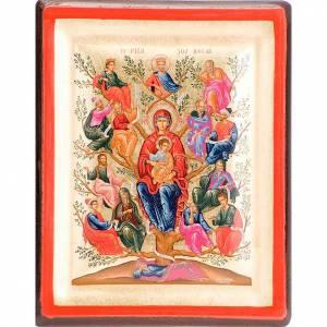 Icone Grecia dipinte e serigrafate: Icona Albero di Jesse serigrafata