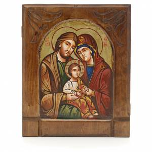 Icona bizantina della Sacra Famiglia s1
