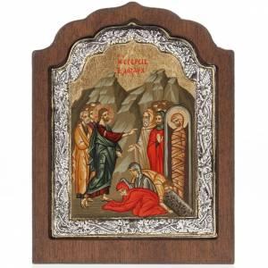 Icona Grecia Resurrezione di Lazzaro argento 925 s1